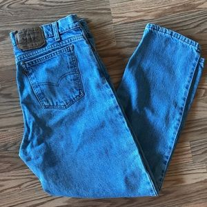 Levi's 550 Made in USA Dad Jeans Orange Tag